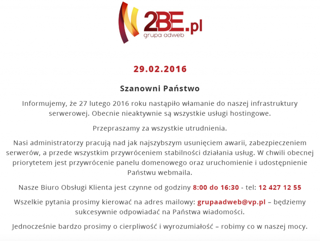 2be.pl zhackowane