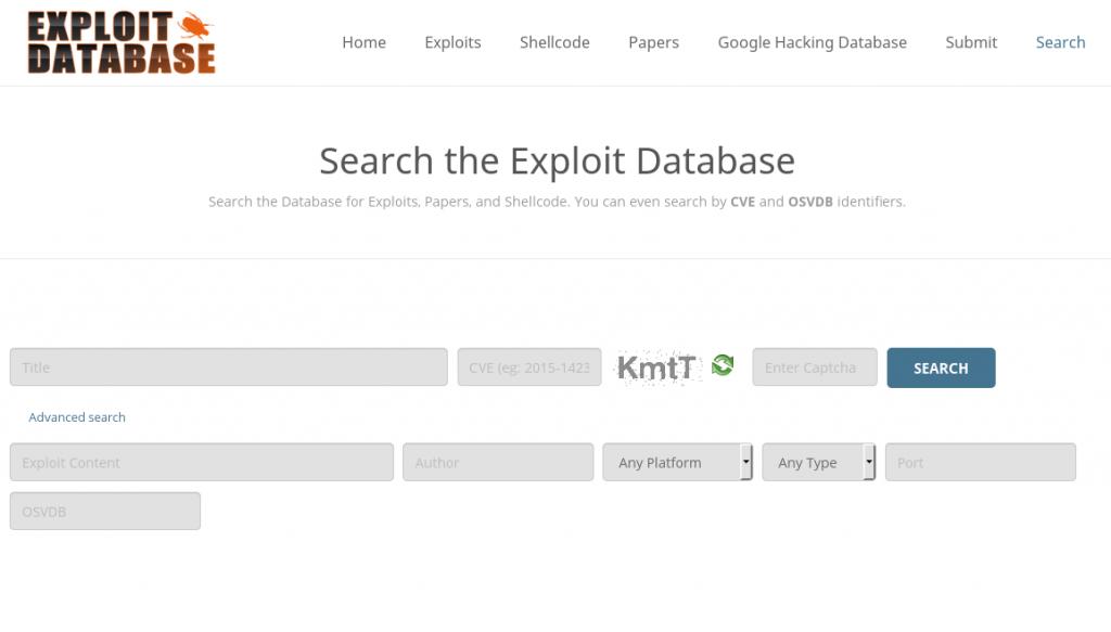 exploit db wyszukiwanie 2
